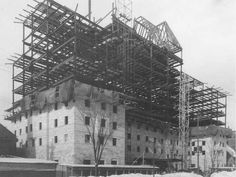 Construction of the Lord Elgin Hotel in Ottawa, Canada Ottawa Valley, Photo Archive, Ontario, Vintage Photos, Louvre, Ottawa Canada, Construction, Urban, History
