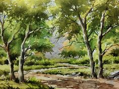 Landscape watercolor by me!