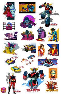 goldorak planche stickers 23 karisma toys
