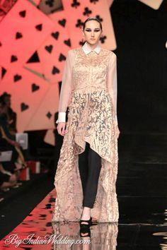 Pankaj & Nidhi Wills Lifestyle India Fashion Week 2014 - Cocktail Wear - Bigindianwedding Cocktail Wear, Cocktail Gowns, Pakistani Couture, Indian Couture, Indian Attire, Indian Outfits, Indian Clothes, Wills Lifestyle, Lifestyle Fashion
