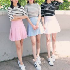 it's common sense. Kawaii Fashion, Cute Fashion, Look Fashion, Skirt Fashion, Fashion Outfits, Womens Fashion, Korean Fashion Trends, Asian Fashion, Ulzzang Fashion
