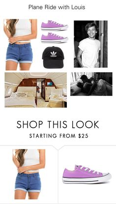 Plane Ride with Louis by sophie-tomlinson-10 on Polyvore featuring Wax Jean, Converse and adidas