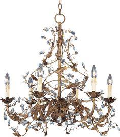 Maxim Lighting Elegante 6-Light Chandelier in Etruscan Gold