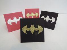 Carte de voeux, carte de fête, carte d'invitation ou carte de remerciement «Batman/Batgirl à paillettes»! de la boutique Lamainalacarte sur Etsy