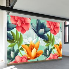 Shop our most popular wall murals. These wall murals have struck a chord with thousands of people. Wall Painting Decor, Mural Wall Art, Flower Art Drawing, Flower Mural, Graffiti, Diy Canvas Art, Decoration, Paintings, Ideas