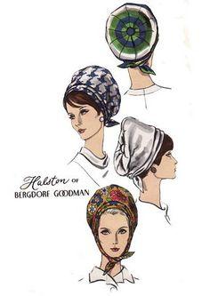 Halston - Patrons - Chapeaux - Bergdorf Goodman - Années 60