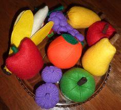 fruits en feutrine - Tutos