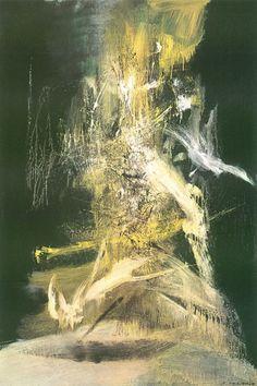 Zao Wou-Ki, - oil on canvas, sold at HKD at Sotheby's Hong Kong Anniversary Sale © Sotheby's Hong Kong Abstract Art Images, Korean Painting, Art Asiatique, China Art, China China, Art Sketchbook, Abstract Landscape, Abstract Expressionism, Modern Art