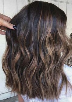 Visit this link and find the stunning shades of brunette balayage hair colors wi. Balayage , Visit this link and find the stunning shades of brunette balayage hair colors wi. Visit this link and find the stunning shades of brunette balayage . Brown Hair Balayage, Hair Color Balayage, Balayage Highlights Brunette, Blonde Hair, Highlights For Brunettes, Wavy Hair, Bayalage Dark Hair, Brown Balyage, Brunette With Caramel Highlights