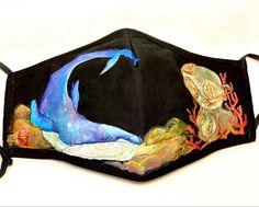 #handpaintedmask #artist #handpaintedmasks #mask #masks #artwork #madetoorder #customorder #fabricpainting #fabricart #paintedmask #fabricmasks Fabric Painting, Fabric Art, Cute Creatures, Primary Colors, Masks, Hand Painted, Cartoon, Abstract, Artist