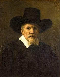 Rembrandt, qui atteint un sommet dans son art, comme en témoigne le Portrait d'Arnold Tholinx (1656). Le style du maître se trouve en rupture la peinture contemporaine néerlandaise, réaliste, lisse et subtile. Rembrandt, lui, simplifie les formes et les couleurs. Ses dessins deviennent comme « cubistes », sa palette se restreint et va à l'essentiel.