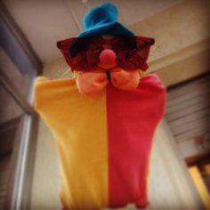 Parachutist clown