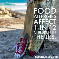 Day 19 of Food Allergy Awareness Month.  1 in 12 children in the U.S. have a doctor-diagnosed food allergy. 1 in 3 Americans has some form of allergy. This and more graphics can be found on our website at https://www.redsneakers.org/awareness. Please share and care.