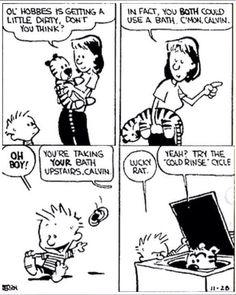 Funny Cartoons Jokes Calvin And Hobbes 70 Ideas For 2019 Calvin And Hobbes Quotes, Calvin And Hobbes Comics, Cartoon Jokes, Funny Cartoons, Funny Memes, Hilarious, Fun Comics, Life Comics, Classic Cartoons