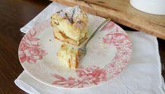 Apfel- und Topfenstreuselkuchen mit Knusper - Bine kocht! French Toast, Pancakes, Canning, Breakfast, Sweet, Food, Apple Strudel, Souffle Dish, Apple Tea Cake