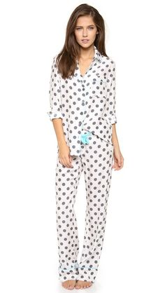 Three J NYC Coco Silk Pajama Set at Juniper Boutique. Only store in IL to carry these yummy PJ's!
