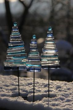 Sp Pretty! » Glass Christmas Trees » made by Pernille Sporon Boving on http://gallery-shop.com