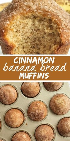 Cinnamon banana bread - Cinnamon Banana Bread Muffins Banana Muffins Banana Bread Recipe Banana Muffins taste like banana bread in muffin form with a sweet cinnamon & butter topping They are perfectly light and moist, Cinnamon Banana Bread, Banana Bread Recipes, Cinnamon Butter, Cinnamon Muffins, Moist Banana Bread, Baking Muffins, Cinnamon Desserts, Easy Banana Bread Recipe No Butter, Banana Muffins Applesauce