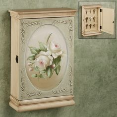 Roselyn Floral Key Wall Cabinet