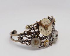 Steampunk bracelet. Steampunk cuff bracelet. Steampunk