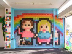 728 Floppies Pixel Mural by Echslectir #Floppies #Echslectir