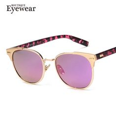 BOUTIQUE Women Brand Design Alloy Frame High Quality Fashion Women Round Sunglasses H1605 - cubic zirconia jewelry