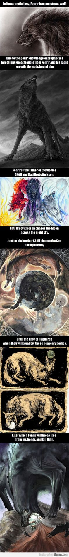 In Norse Mythology, Fenrir Is A Monstrous Wolf
