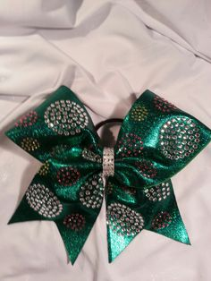 RHINESTONE CHEER BOW by GlamourBowsByAnna on Etsy