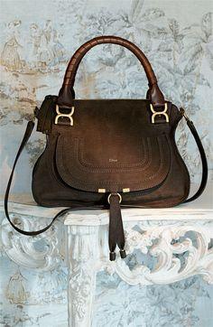 a5e8df0821 Chloé  Marcie - Small  Nubuck Leather Shoulder Bag Chloe Marcie Bag