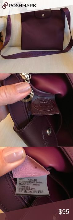 "Gorgeous LONGCHAMP CROSSBODY Le Pilage No flaws noted.  Great berry color.  A true cross body that will keep on giving. 11"" by 10"" longchamp Bags Crossbody Bags"