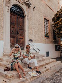 Lena Hoschek Amalfi Dress & Sonny Shirt Amalfi Pictures by Irina & Rares Peicu  #lenahoschek #cruisecollection #vacationmood #vacationoutfit #italyvibes