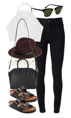 """""""outfit for spring"""" by im-emma ❤ liked on Polyvore featuring STELLA McCARTNEY, rag & bone, Rayban, ASOS, Givenchy, Miss Selfridge and Birkenstock"""