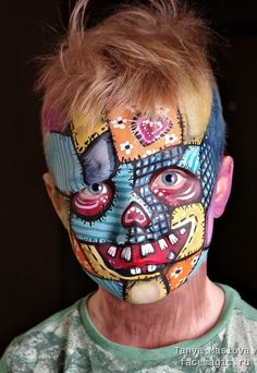 Face painting by Tanya Maslova. Face painting by Tanya Maslova. Halloween Clown, Halloween Make Up, Halloween Face Makeup, Kids Makeup, Makeup Art, Clown Face Paint, Animal Face Paintings, Fantasy Make Up, Clown Faces