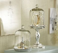 Glass cloches, or bell jars, were created to protect seedlings or special flowers from adverse elements.