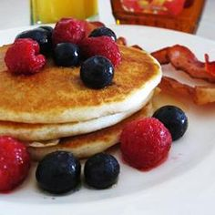 """My kids had NO clue these pancakes were gluten-free—they were fluffy, thick, and oh-so-good!"" —Aubrey 