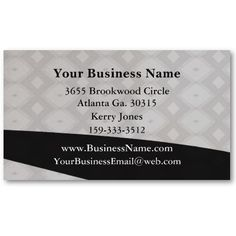 Initial Business Card