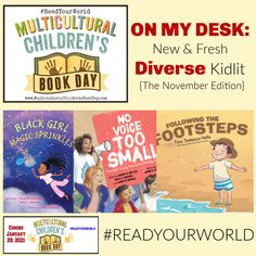 ON MY DESK: New & Fresh Diverse Kidlit {The November Edition} - Multicultural Children's Book Day