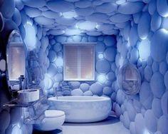 Плитка 3D в ванной комнате