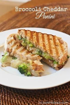 Broccoli Cheddar Panini ...tastes just like broccoli-cheese soup, in sandwich form!