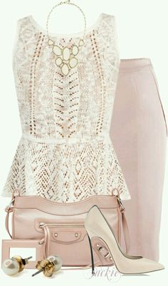 pop of lace, nice work outfit Fashion Mode, Work Fashion, Womens Fashion, Fashion Trends, Emo Fashion, Gothic Fashion, Fashion Ideas, Classy Outfits, Beautiful Outfits