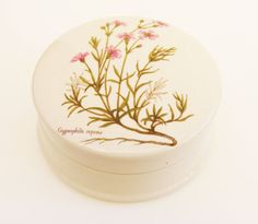 Flower trinket pot Gypsophilia Repens British by Florinandsixpence