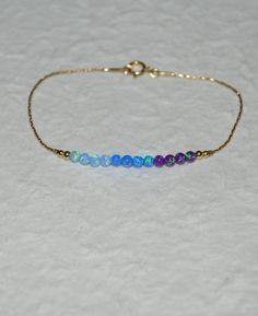 Opal Bracelet Opal Jewelry opal ball/bead by ModernJewelBoutique