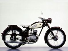 Yamaha YA-1 125cc. 1955  This model was Yamaha's first motorcycle and the starting point for Yamaha Motor Co. Ltd.