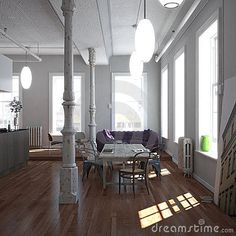 High ceilings and the space!
