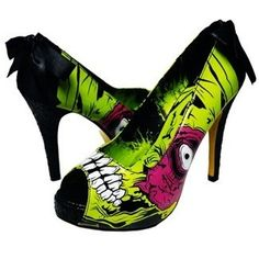 """I wouldn't wear these, but I'd like them in my house as a sort of art installation--""""Zombie Stomper"""" high heels from Iron Fist."""