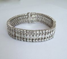 Vintage Marquise Three Row Estate Jewelry by WOWTHATSBEAUTIFUL