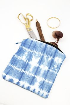 Fun and functional! The Indigo Convertible Pouch is beautifully hand dyed. www.mooreaseal.com