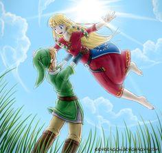 Zelda x Link  by Eeveetachi on DeviantArt