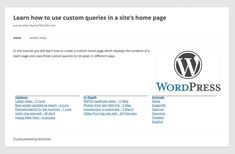 How to Create a Homepage With Multiple Listings Using Custom Queries