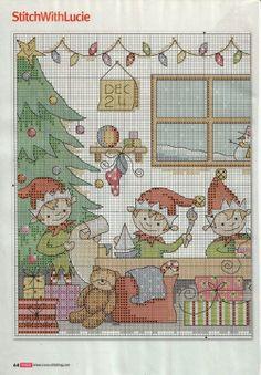 Points de croix **@* Cross stitch Christmas
